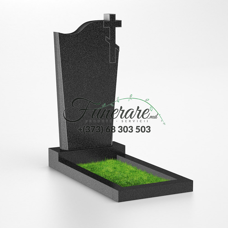 Памятник черный гранит 0037