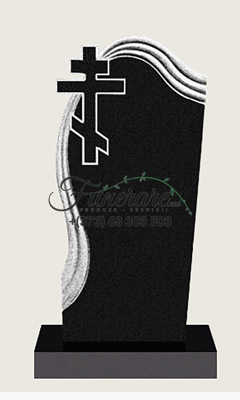 Памятник черный гранит 0093