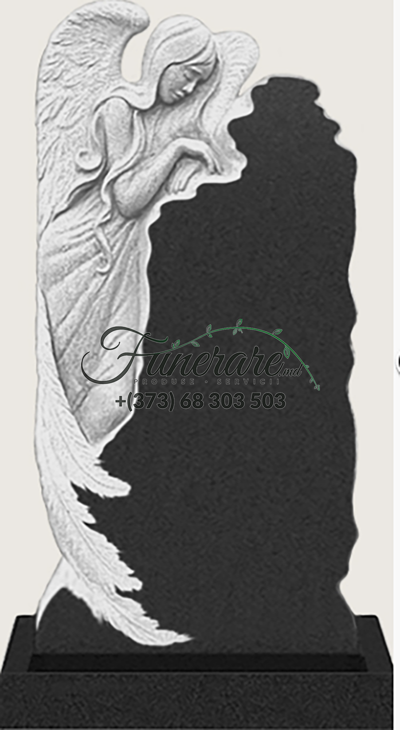 Памятник черный гранит 0164
