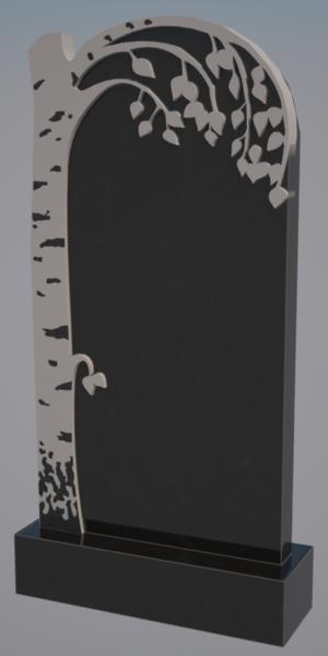 Памятник черный гранит 0174