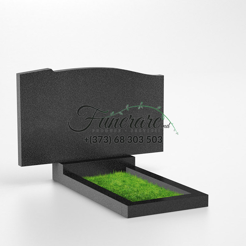 Monument granit negru, granit gri 0205