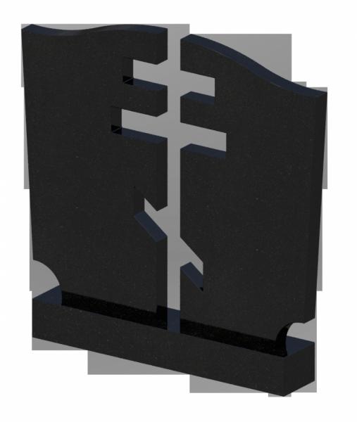 Памятник черный гранит,cерый гранит 0208