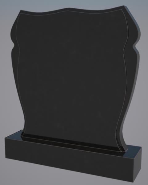 Памятник черный гранит 0237