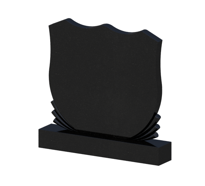 Памятник черный гранит 0238