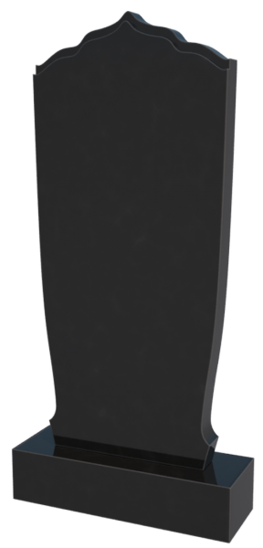 Памятник черный гранит 0268