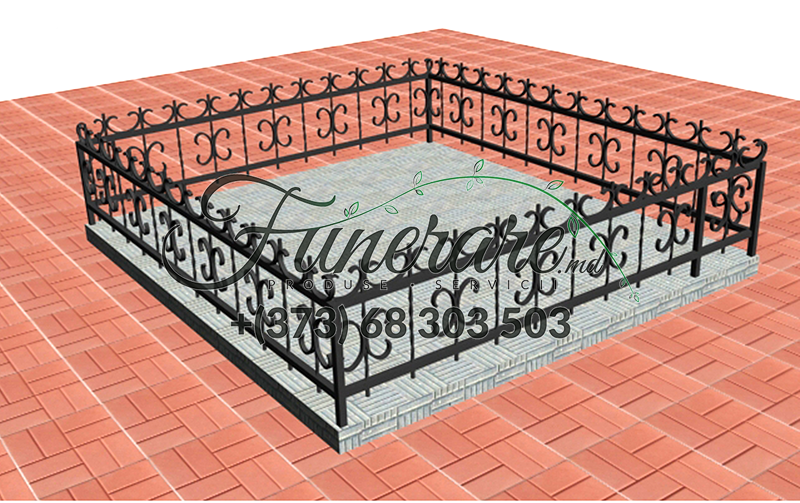 Кованые металлические ограды для кладбища 0344