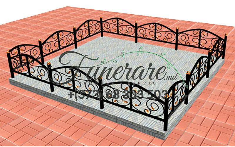 Кованые металлические ограды для кладбища 0345
