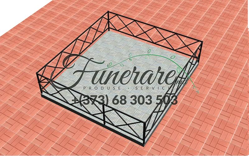 Кованые металлические ограды для кладбища 0346