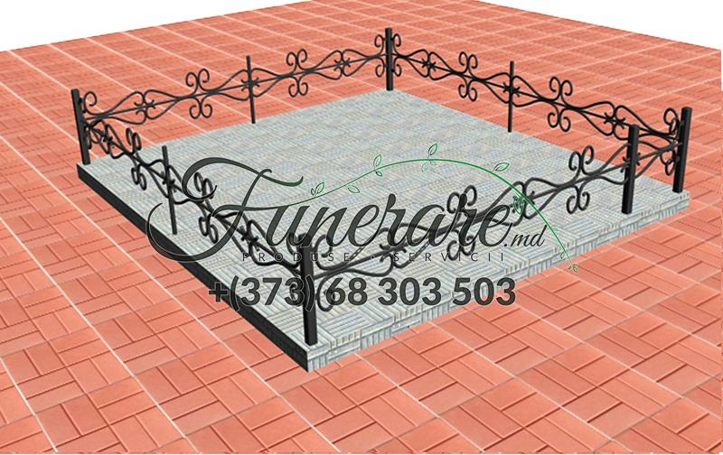 Кованые металлические ограды для кладбища 0349