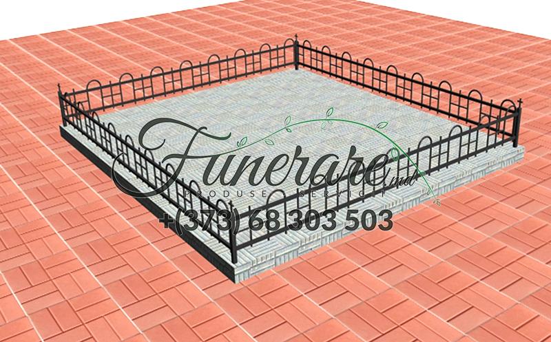Кованые металлические ограды для кладбища 0350