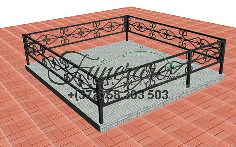 Gard din metal forjat pentru cimitir 0351