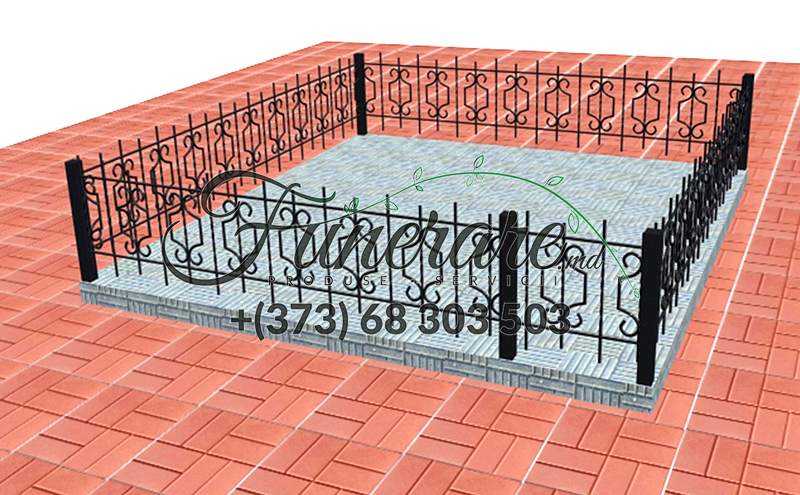 Gard din metal forjat pentru cimitir 0352