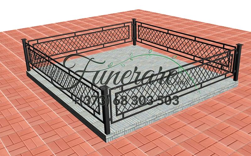 Кованые металлические ограды для кладбища 0353