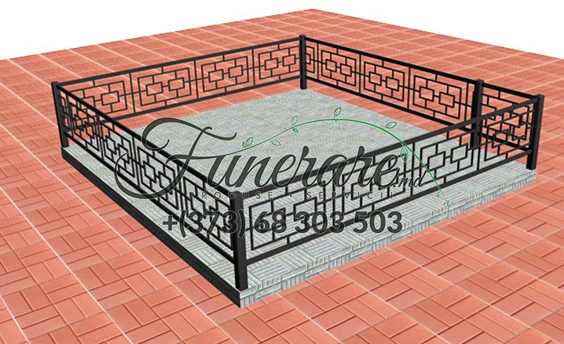 Кованые металлические ограды для кладбища 0354