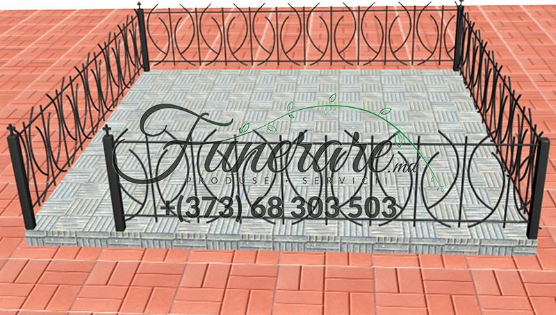 Gard din metal forjat pentru cimitir 0355