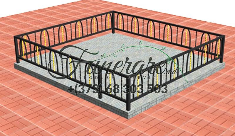 Кованые металлические ограды для кладбища 0356