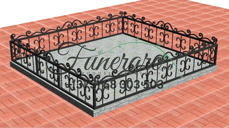 Кованые металлические ограды для кладбища 0358