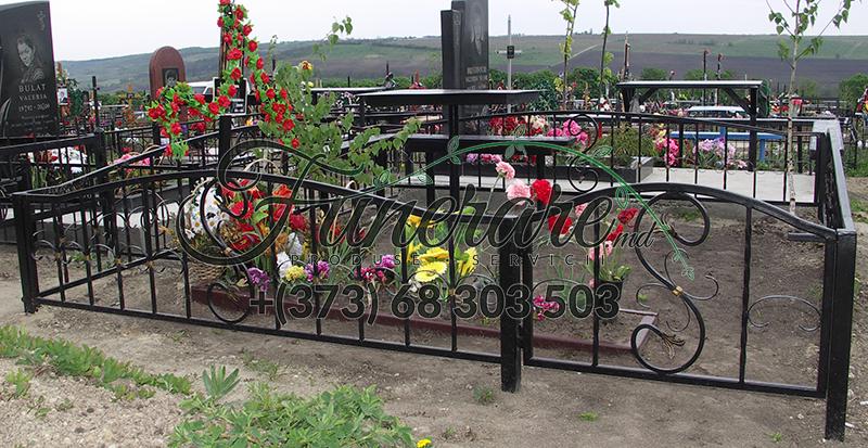 Gard din metal forjat pentru cimitir 0360