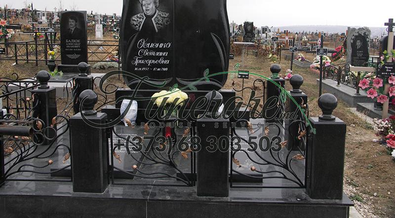 Кованые металлические ограды для кладбища 0361