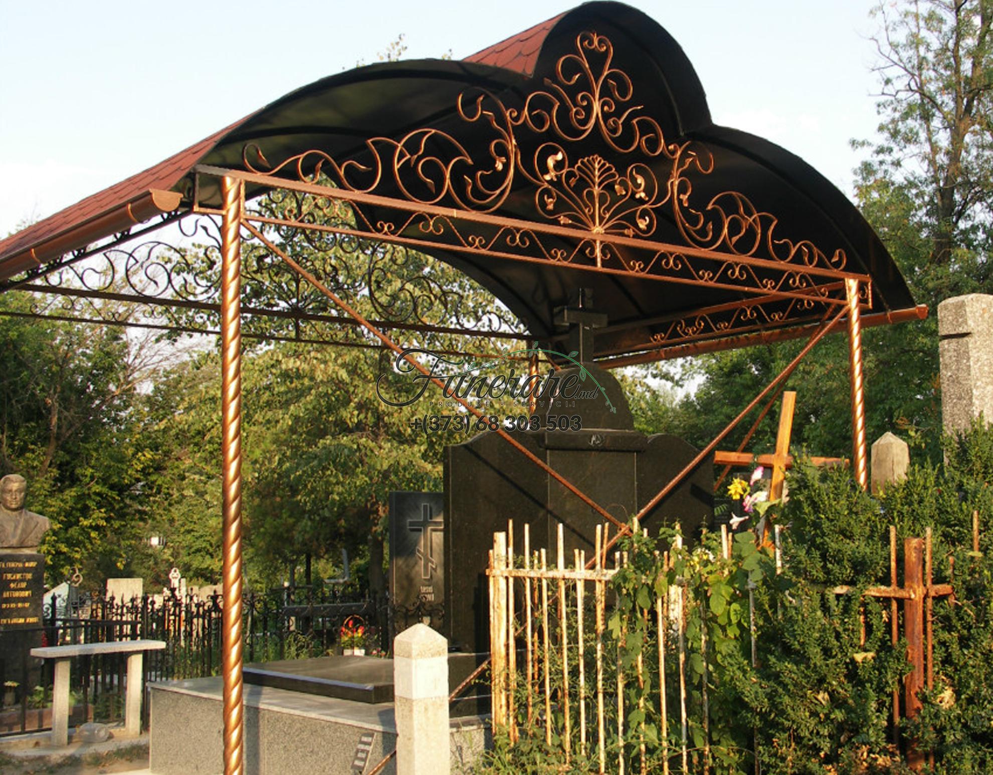 Gard din metal forjat pentru cimitir 0366